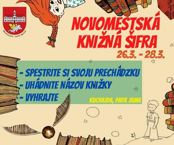 Vezmite rodinku na novomestskú knižnú prechádzku na Kuchajdu a do Jamy. 🌞📚👍 Hľadajte, hádajte a…Bratislava – Nové Mestobanovemesto FB Posts