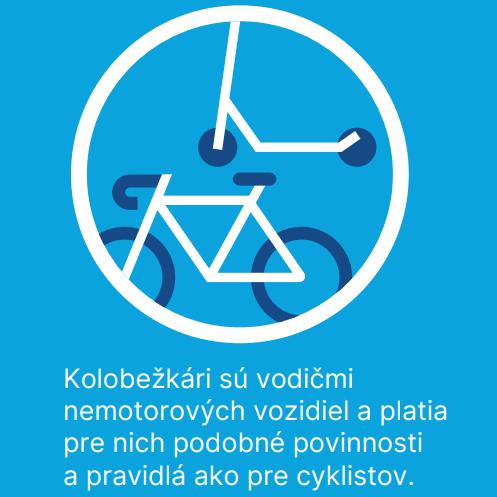 Vodiči 🚗, netrúbte na kolobežkárov 🛴. Patria na cestu. Kolobežkári, jazdite po pravej krajnici cesty ako cyklisti. Buďme toleran…