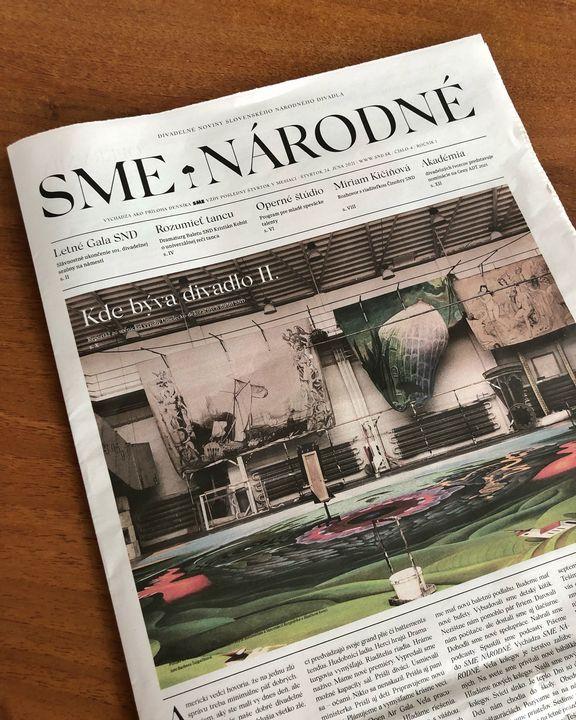 🗞 Práve vychádza nové číslo prílohy SME NÁRODNÉ  🎭 Nájdete v ňom rozhovor s riaditeľkou Činohry SND Miriam Kičiňovou, rozprávani…