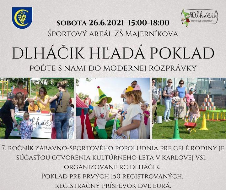 ZABAVTE SA S DEŤMI 👧👦 Kultúrne a športové leto, ktoré otvoríme túto sobotu, prinesie deťom špeciálny program až na dvoch miestac…