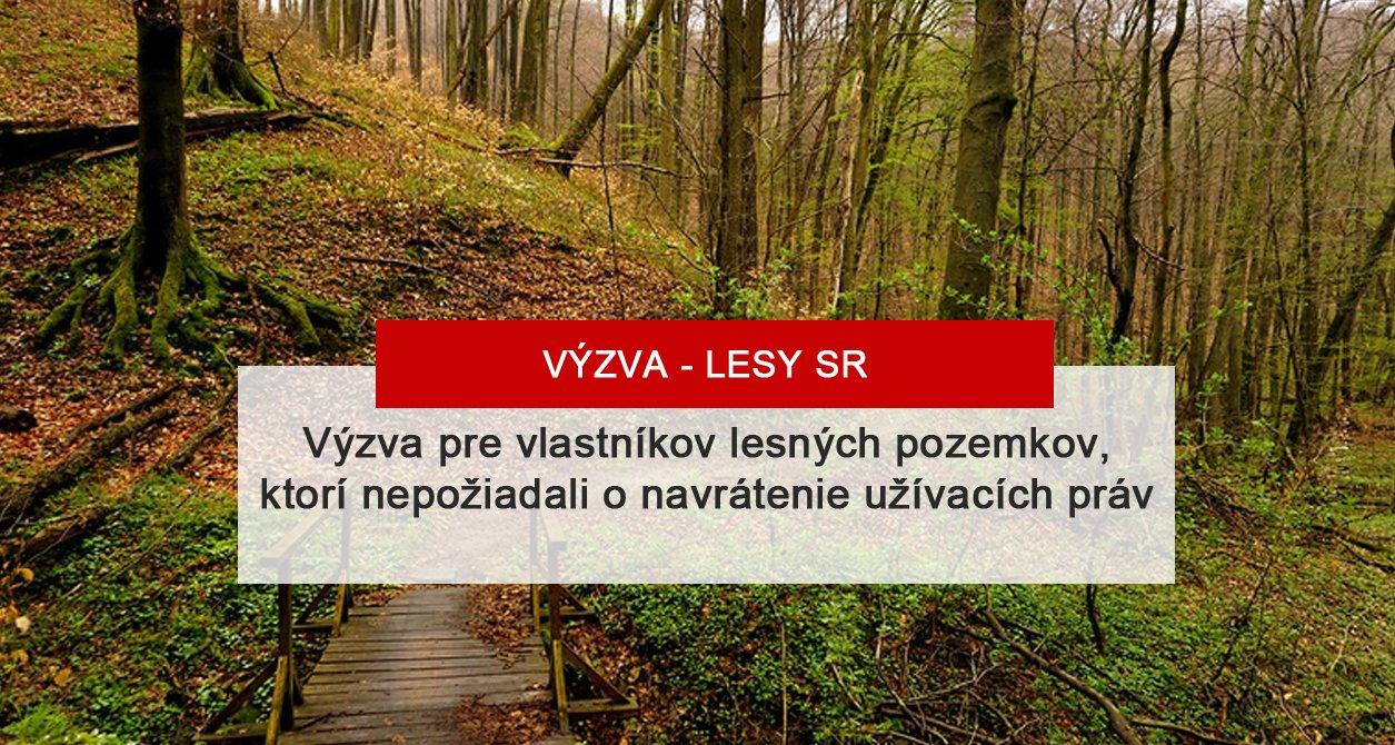Výzva pre vlastníkov lesných pozemkov – Záhorská Bystrica