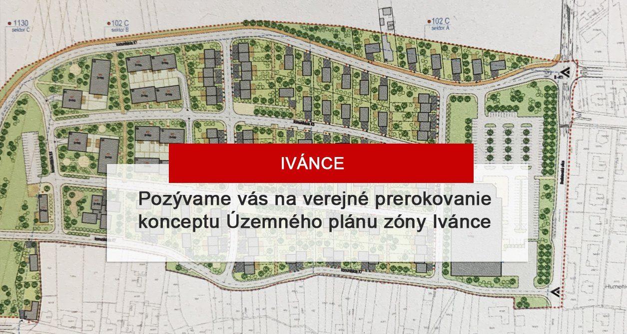 Verejné prerokovanie ÚPZ Ivánce – Záhorská Bystrica
