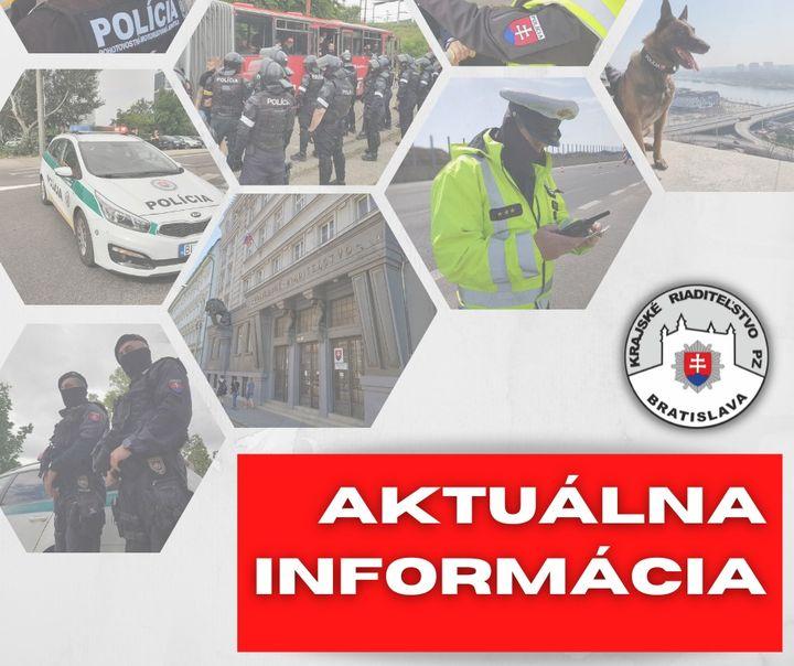 DOTERAJŠÍ PRIEBEH VEREJNÉHO ZHROMAŽDENIA Z POHĽADU BRATISLAVSKEJ POLÍCIE   ✅V súvislosti s dnešným neoznámeným verejným zhromažd…