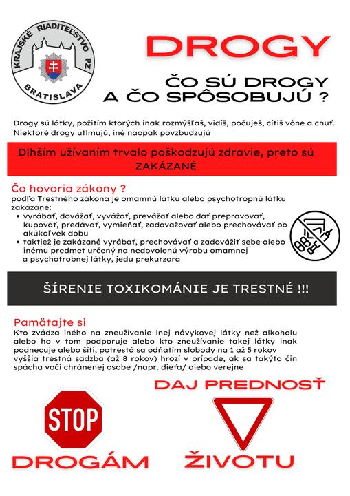 🚫STOP DROGÁM ! DAJ PREDNOSŤ ŽIVOTU 👀  ❌Tínedžeri prichádzajú do styku s veľkým množstvom informácií o drogách z médií a sociálny…