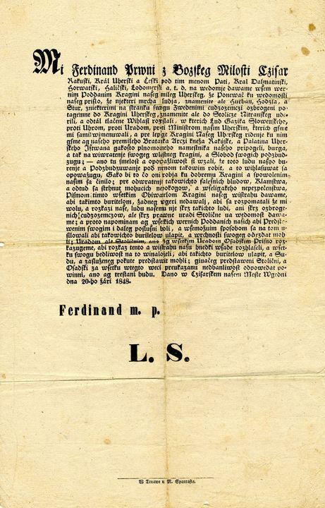 🔷V osobnom fonde Svätopluka Štúra📚sa popri mnohých zaujímavých dokumentoch nachádza jeden výnimočný. 👉Ide o originál rozkazu vte…