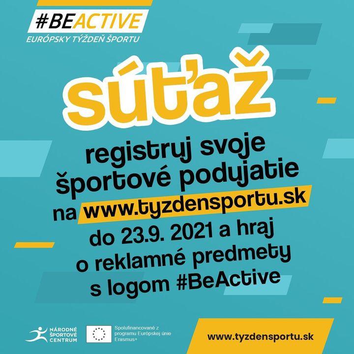 Ostáva už len pár dní nato, aby ste mohli zaregistrovať svoje podujatie na www.tyzdensportu.sk a vyhrať pekné #BeActive ceny. #t…