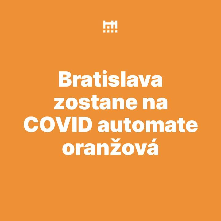🟠COVID automat: Bratislava zostáva oranžová  Na Slovensku sa situácia s ochorením Covid-19 výrazne zhoršuje a bratislavský okres…
