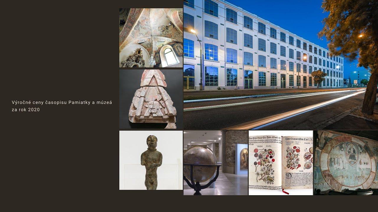 Slávnostný galavečer z odovzdávania Výročných cien časopisu Pamiatky a múzeá za rok 2020